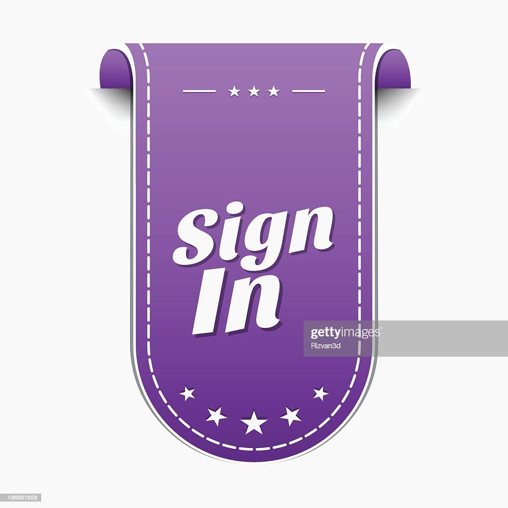 Sign In Violet Vector Icon Design