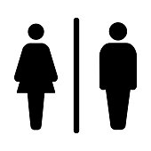 Sign male and female toilet