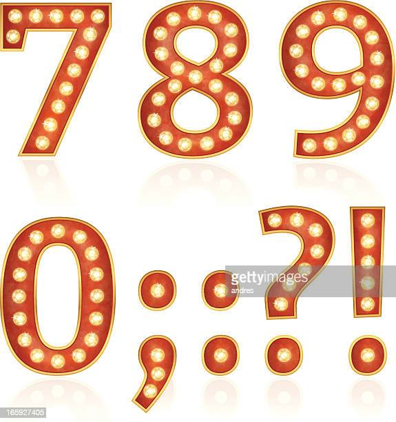 Sign numbers with lamps