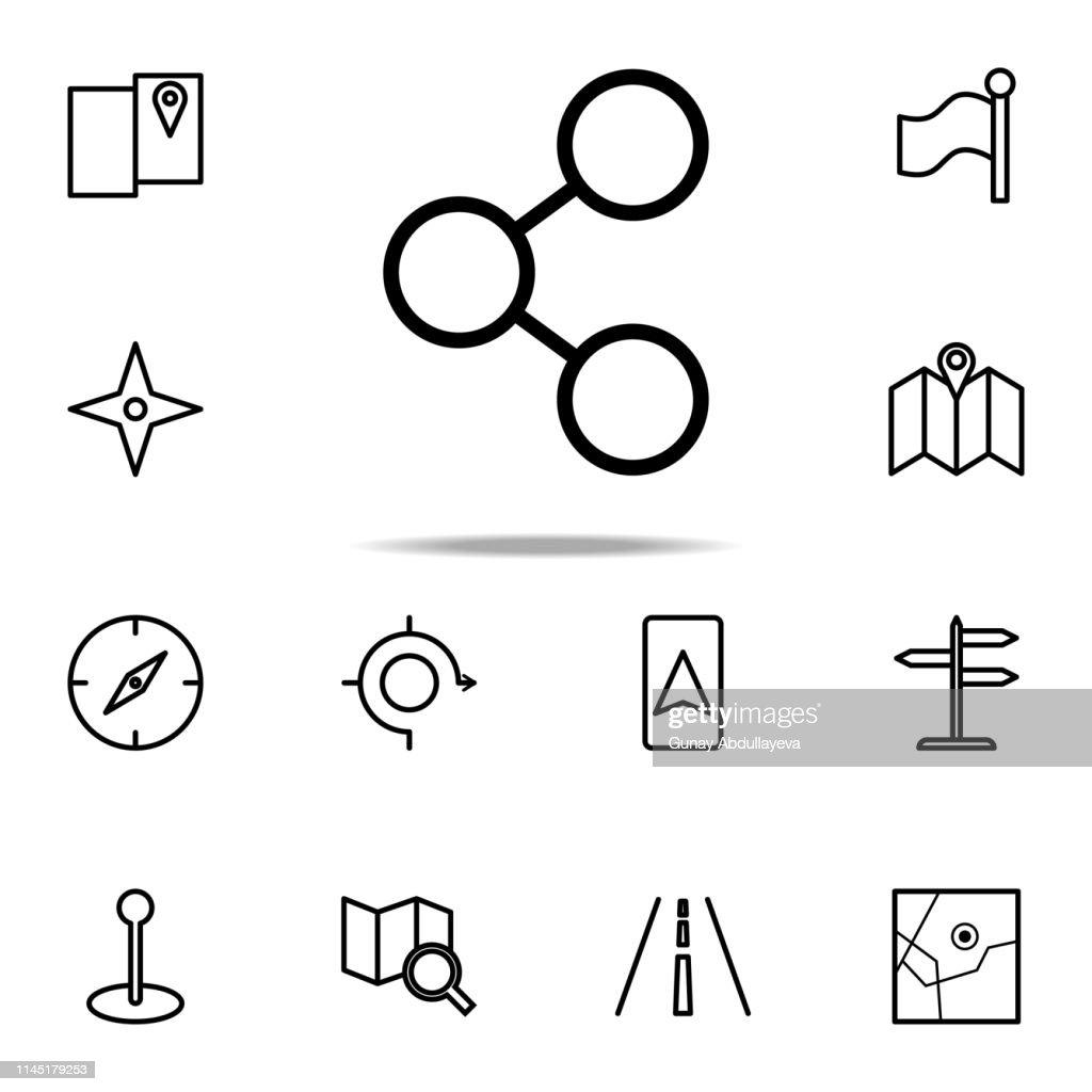 sign of distribution icon. Navigation icons universal set for web and mobile