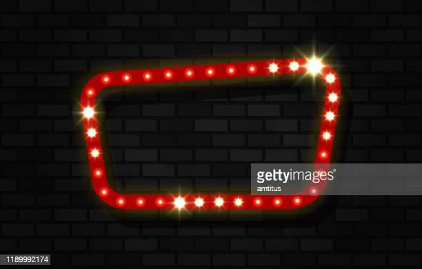 sign on bricks background - sign stock illustrations