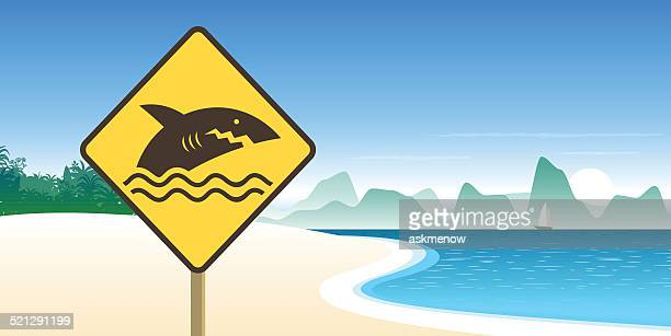 DONT SWIM sign on the beach