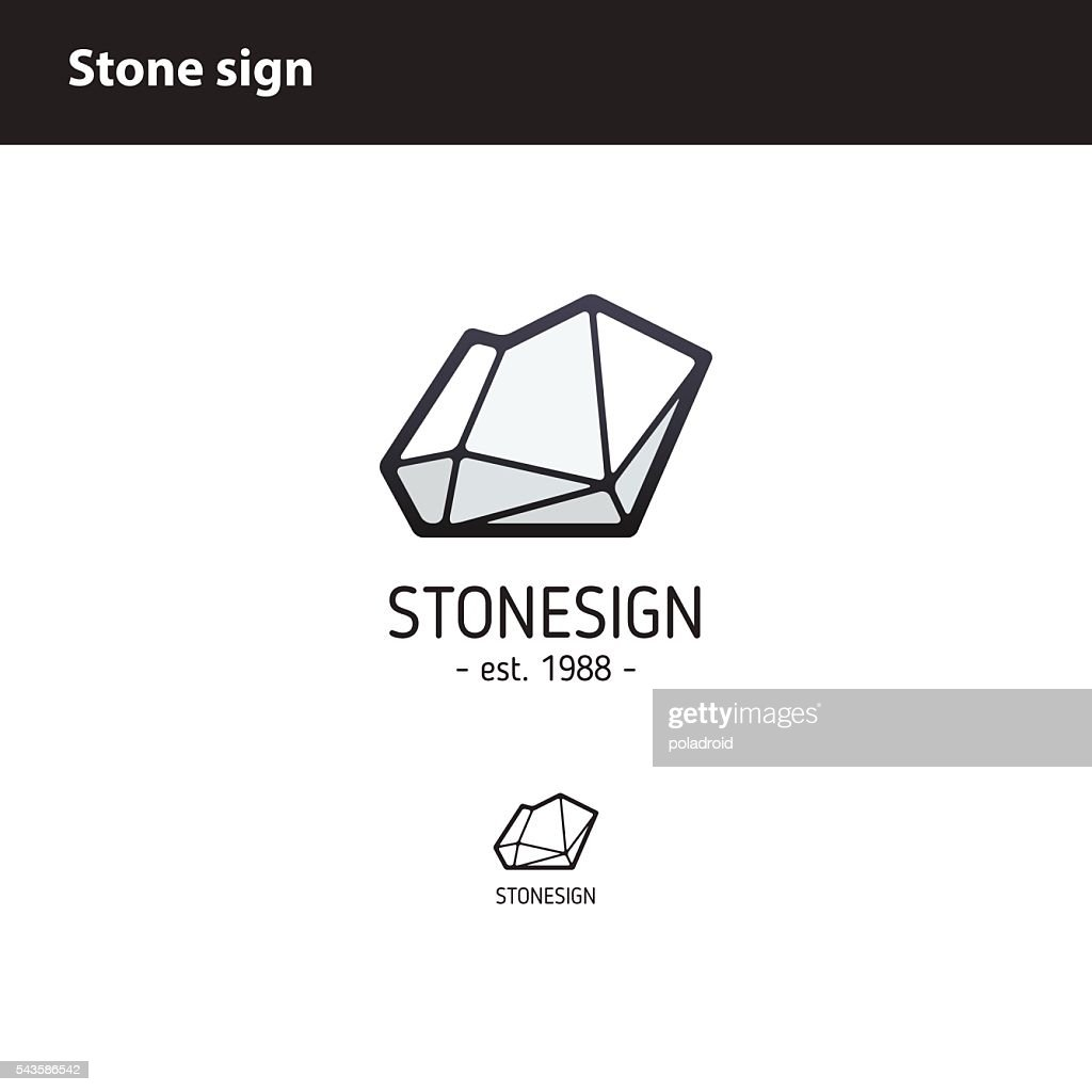 sign  polygonal stone