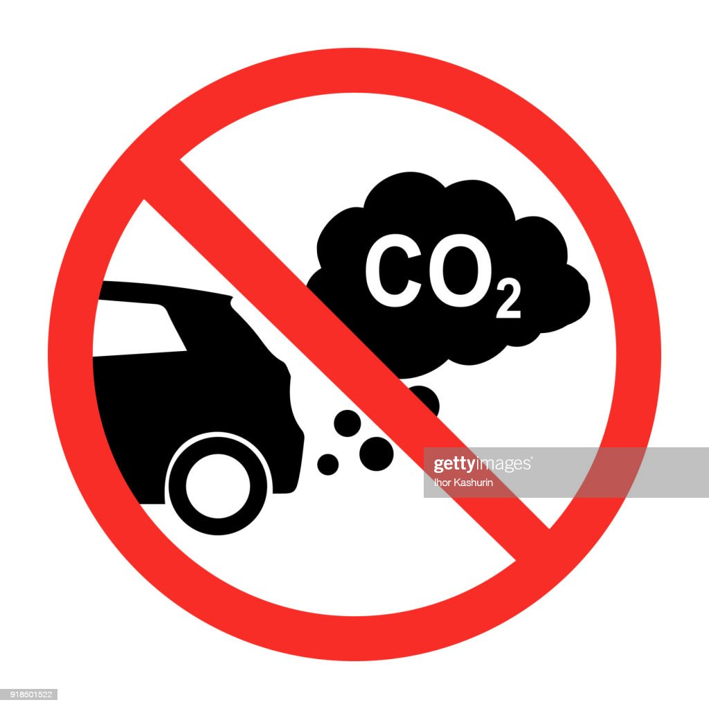 sign prohibiting emissions carbon dioxide. isolated on white background. flat style trend modern symbol design vector illustration