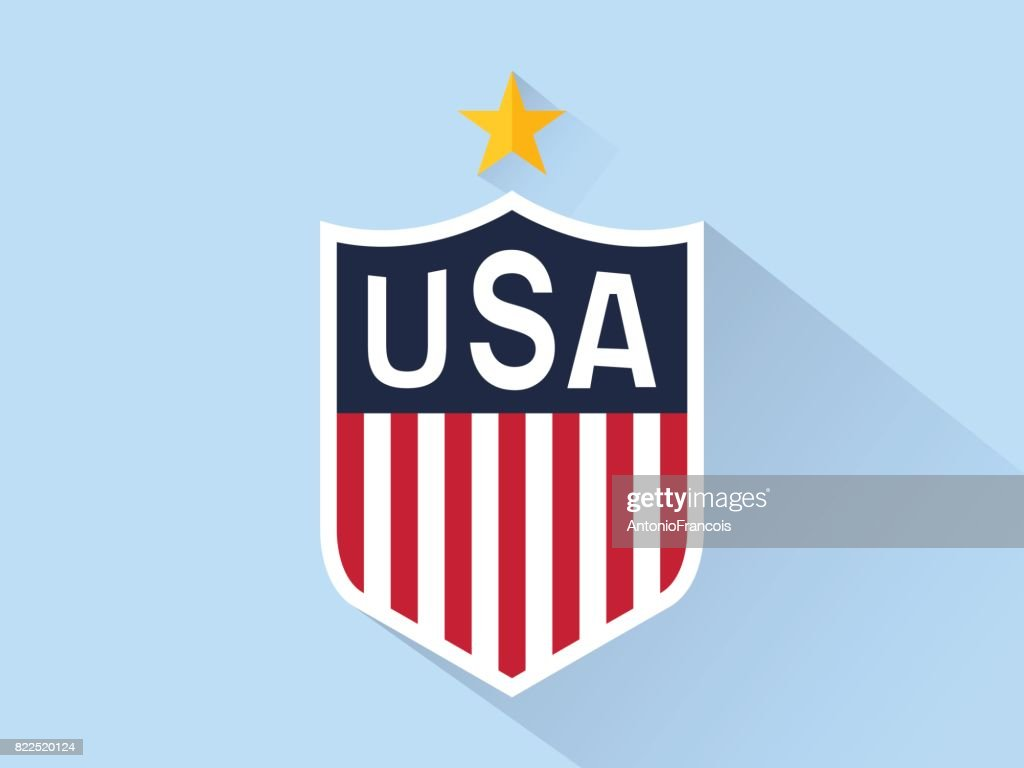 97d5b4f3177 Usa Sign Sticker Symbol Icon Flag Vector Flat Logo stock vector ...