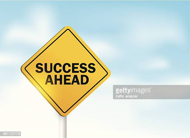 """sign """"success ahead"""" over sky - signal flare stock illustrations, clip art, cartoons, & icons"""