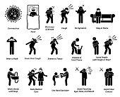 Sign symptoms of coronavirus virus and epidemic prevention tips.