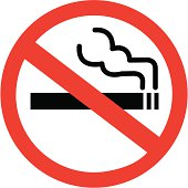 A sign that depicts no smoking