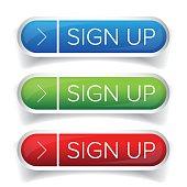 Sign Up button set