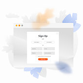 Sign Up Form UI Illustration