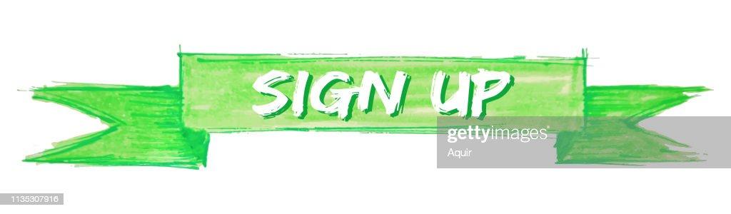 sign up ribbon
