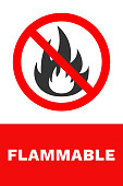 FLAMMABLE sign. Vector