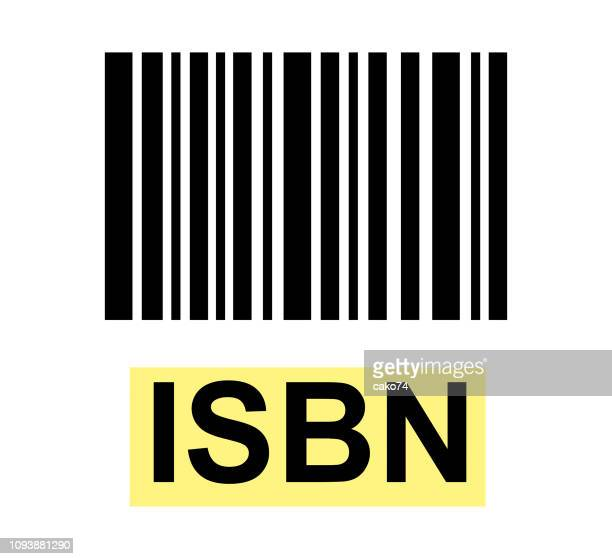 isbn schild mit barcode - bartresen stock-grafiken, -clipart, -cartoons und -symbole