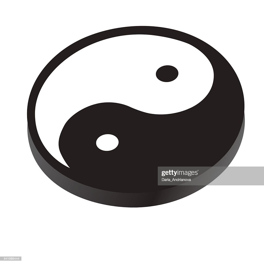 Sign Yin Yang Symbol Of Peace Contrast Harmony Vector Art Getty Images