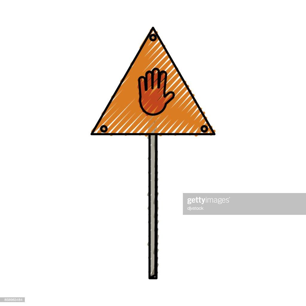 signal construction warning vector illustration
