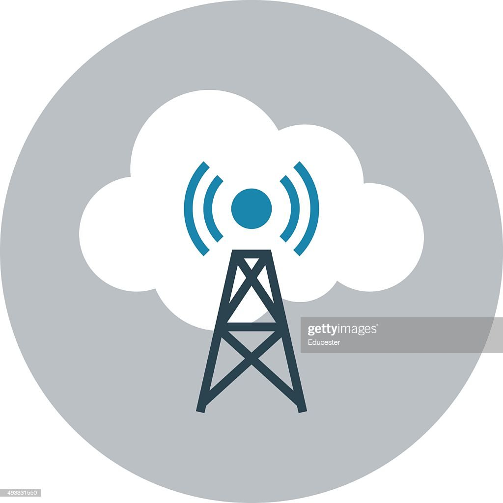 Signals Tower Colored Vector Illustration