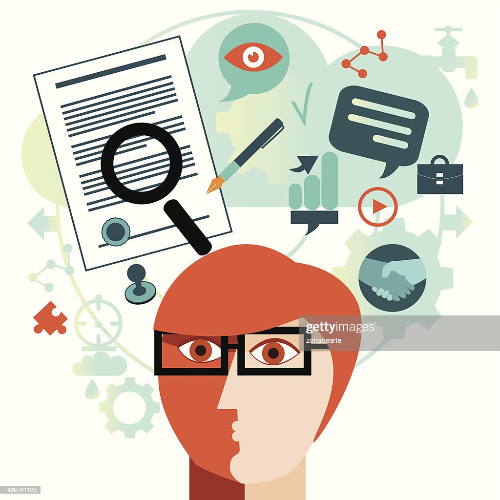 Signing a contract : stock illustration