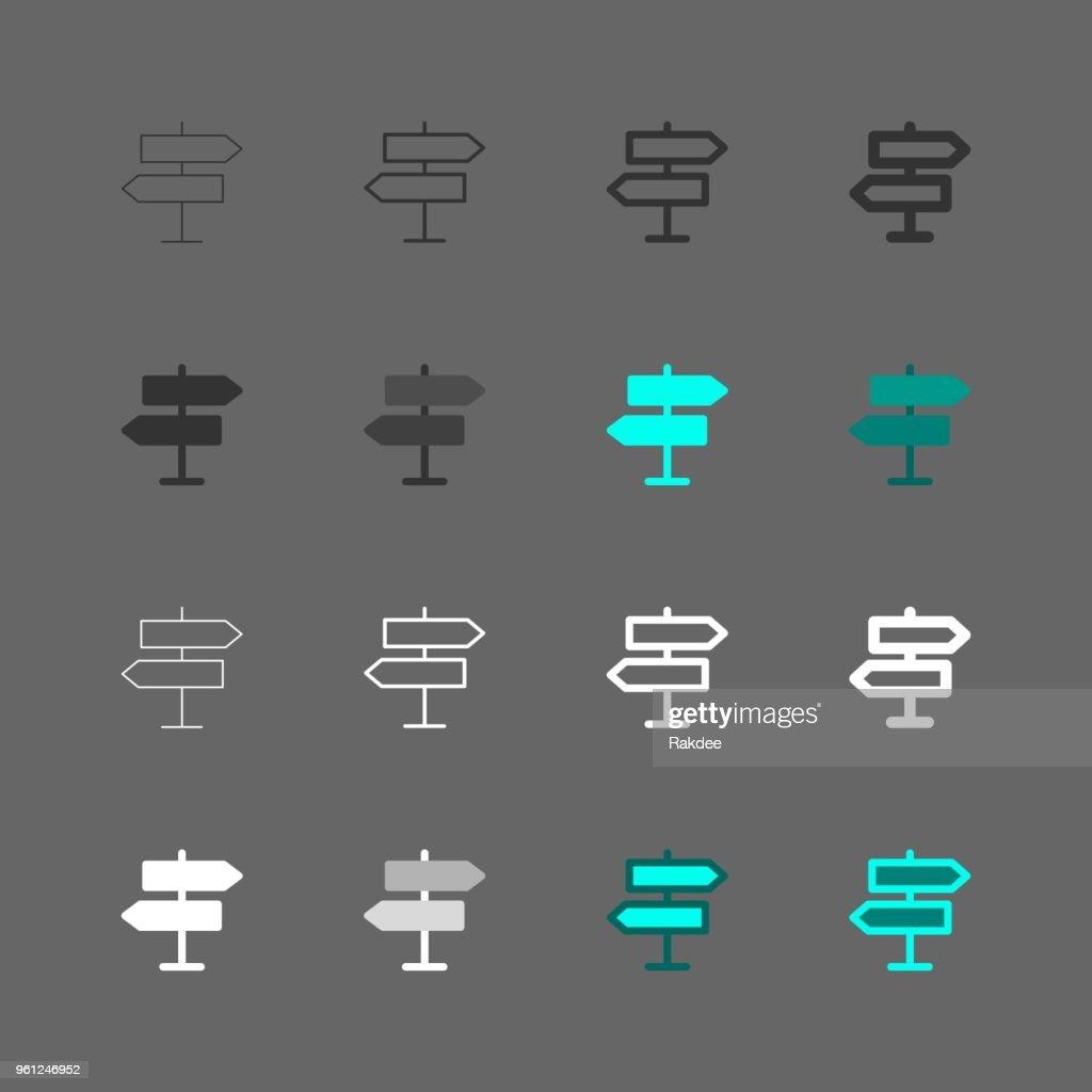 Signpost Icon - Multi Series : stock illustration