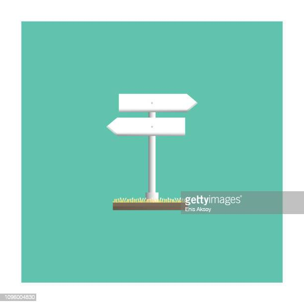 signpost icon - directional sign stock illustrations