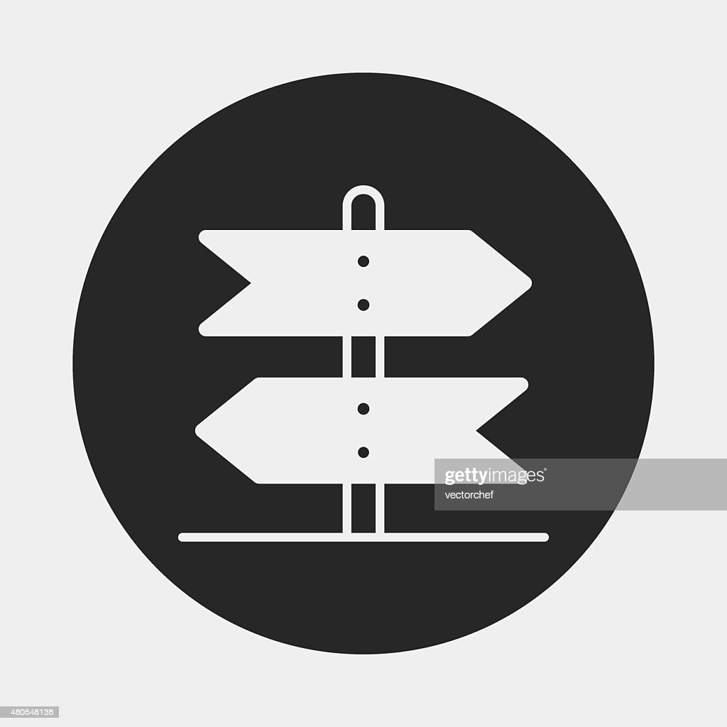signpost icon : Vector Art