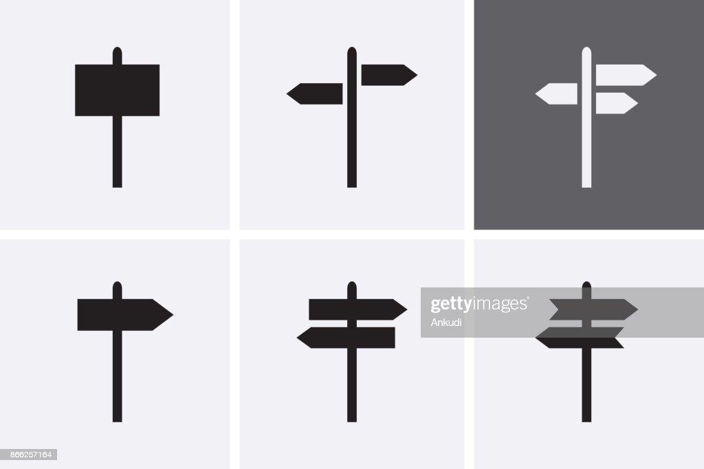 Signpost Icons set.