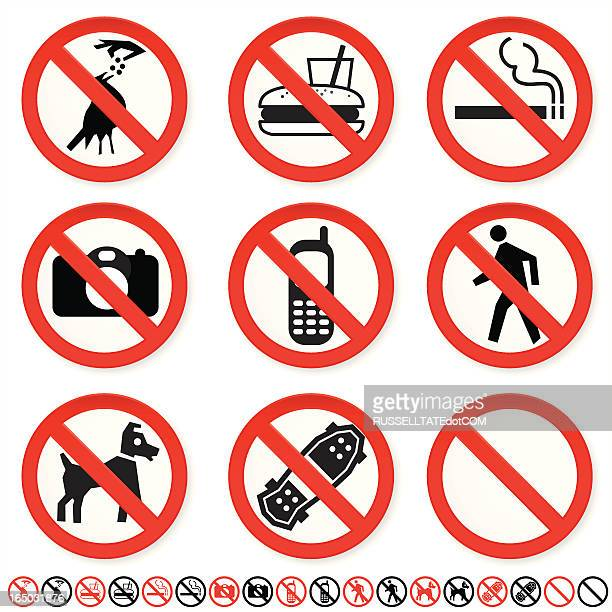 do not signs - accessibility stock illustrations, clip art, cartoons, & icons