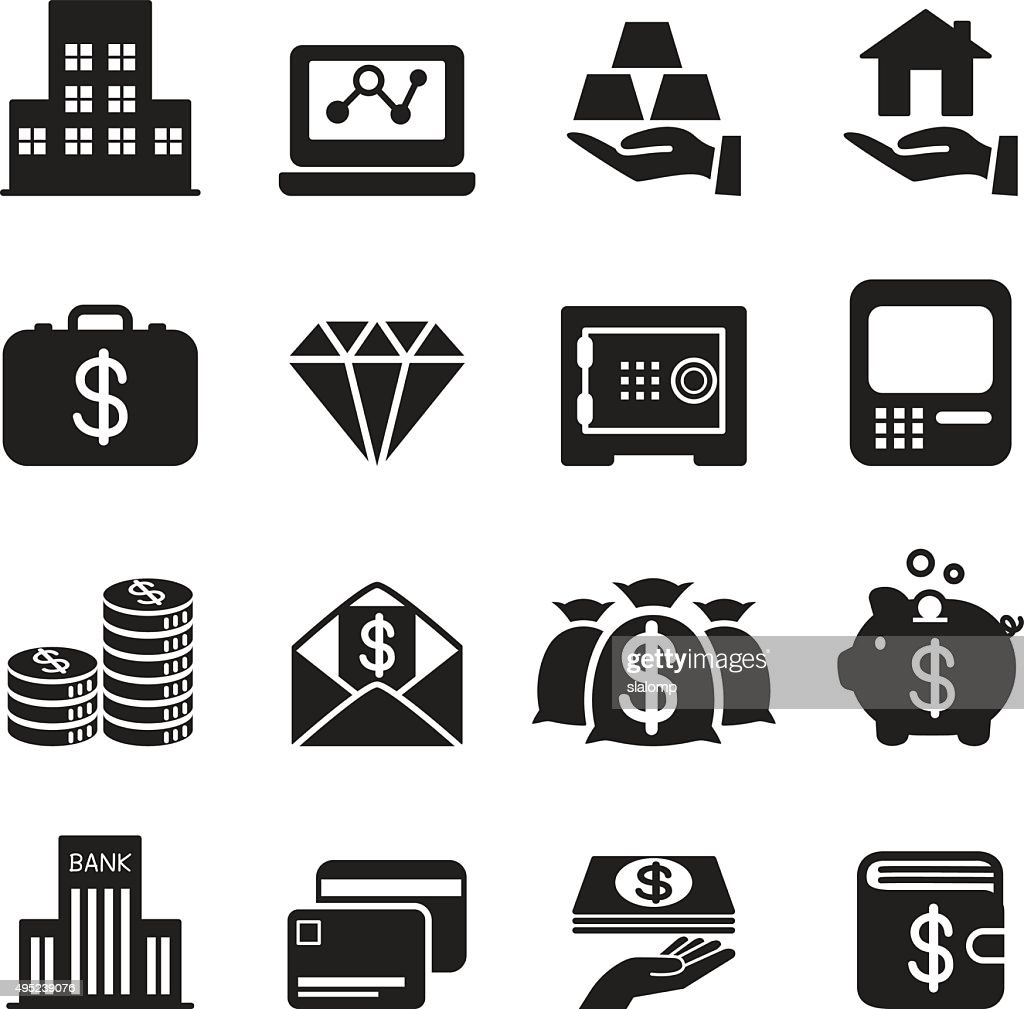 Silhouette asset / money / Treasure icons Set