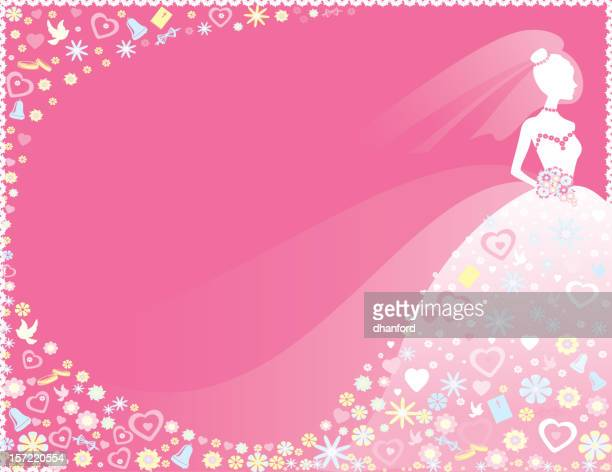 Silhouette Bride in Pink