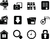 Silhouette Computer and website icons