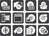 Silhouette Computer Media and disk Icons