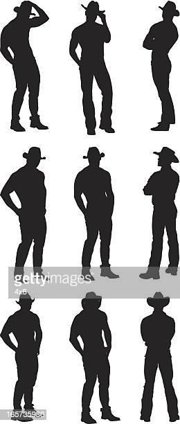 Silhouette cowboy studs