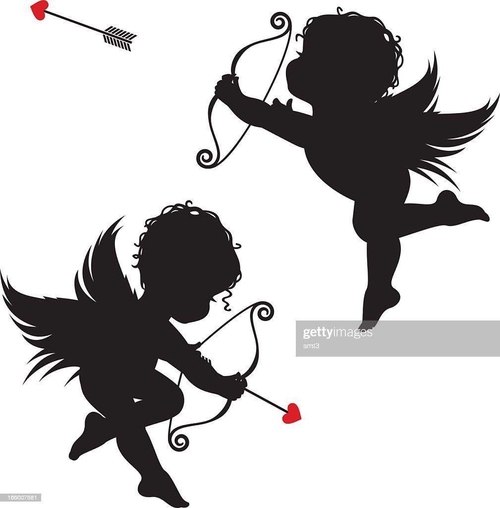 Silhouette cupids