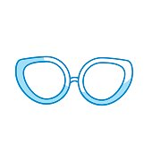 silhouette glasses to use in the eyes
