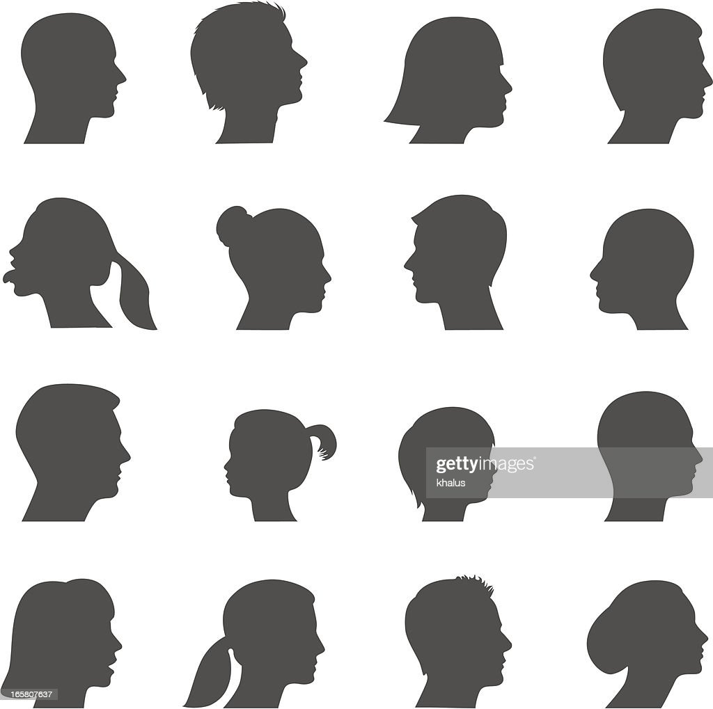 Silhouette heads
