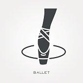 Silhouette icon ballet