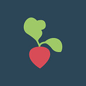 Silhouette icon beets