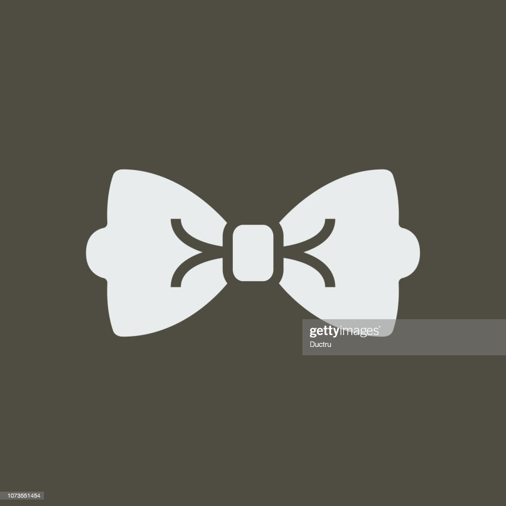 Silhouette icon bow tie