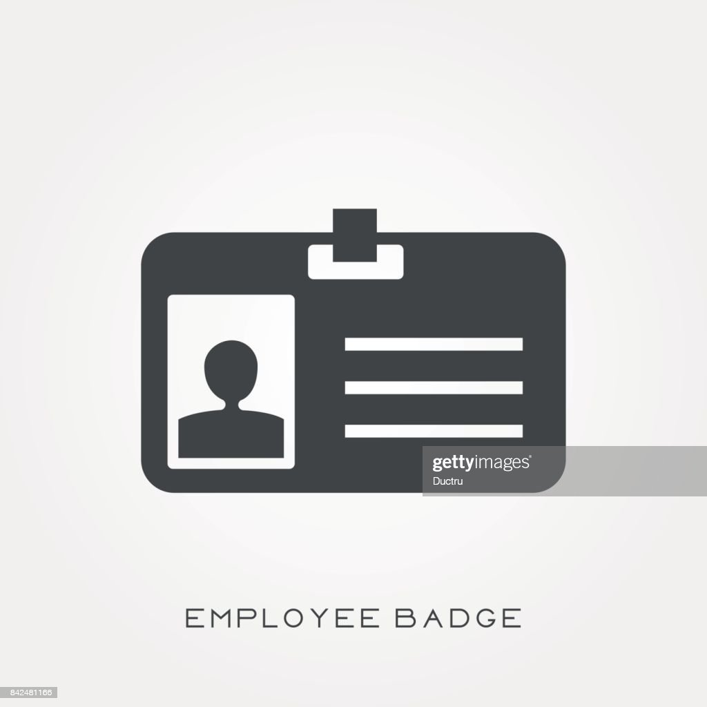Silhouette icon employee badge