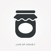 Silhouette icon jar of honey