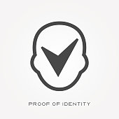 Silhouette icon proof of identity