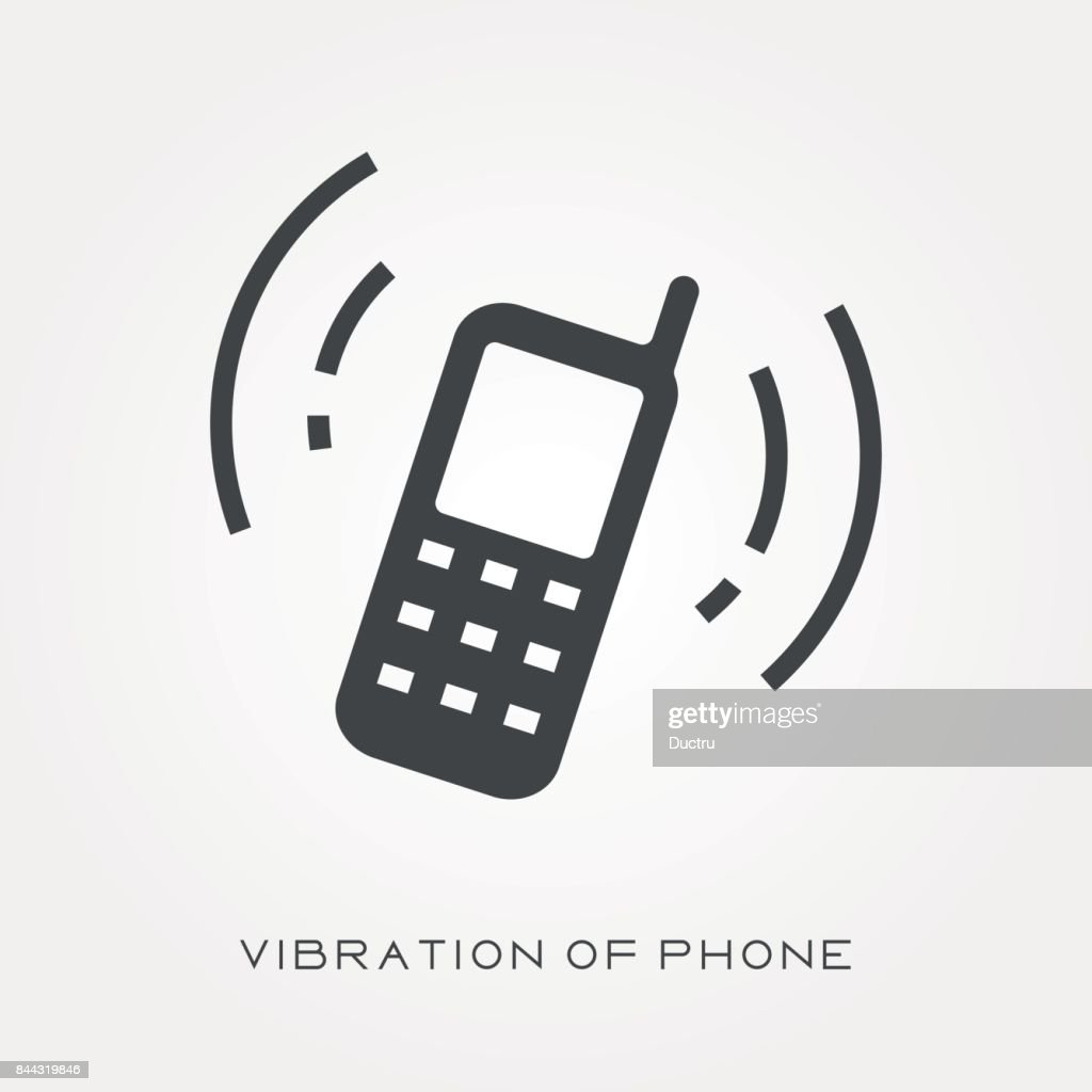 Silhouette icon vibration of phone