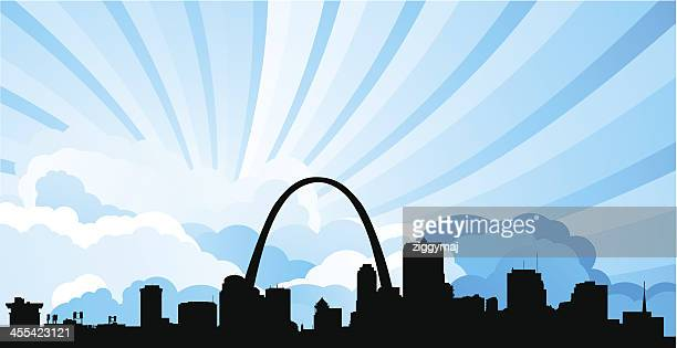 Silhouette illustration of the St. Louis skyline