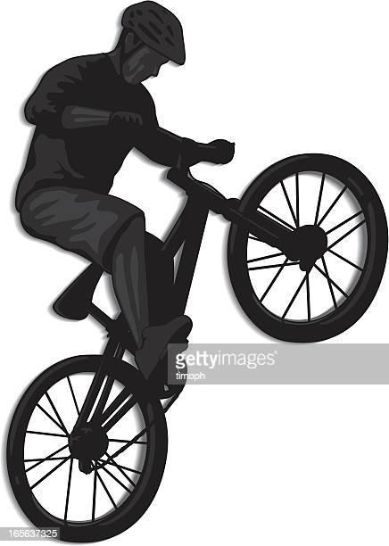ilustrações de stock, clip art, desenhos animados e ícones de salto de bicicleta - mountain bike