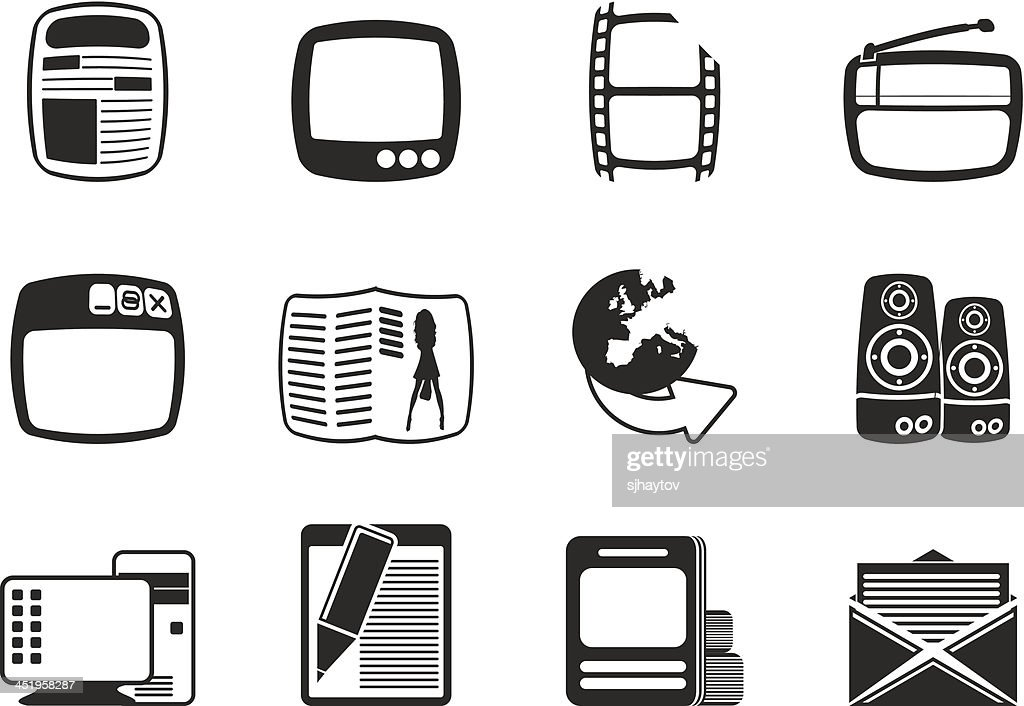 Silhouette Media icons