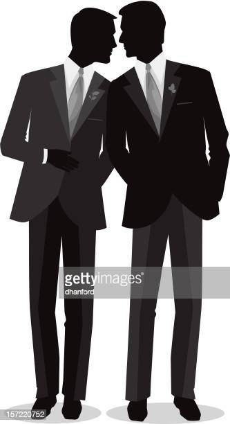 Silhouette Men Gay Marry