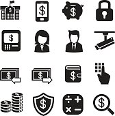 silhouette Money, finance, banking, Investment Internet banking