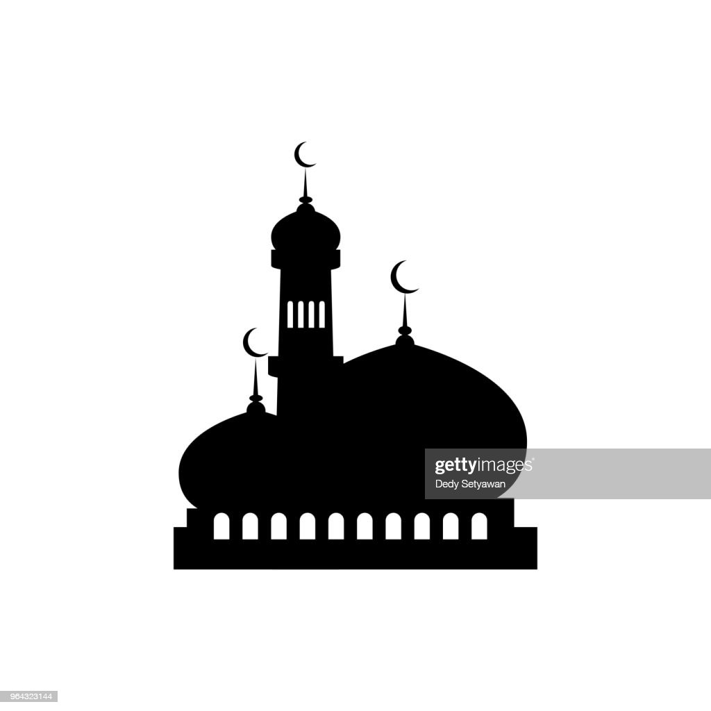 silhouette mosque