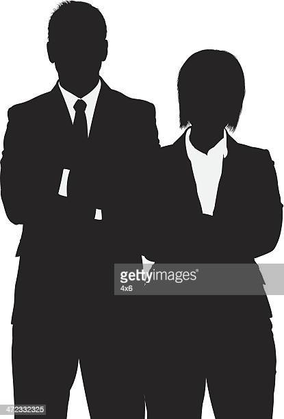 Silhouette of a business couple