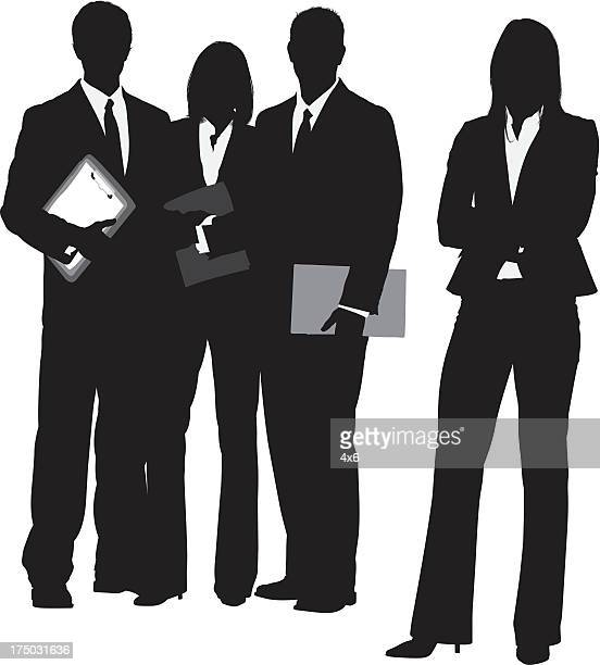 Silhouette of a business team