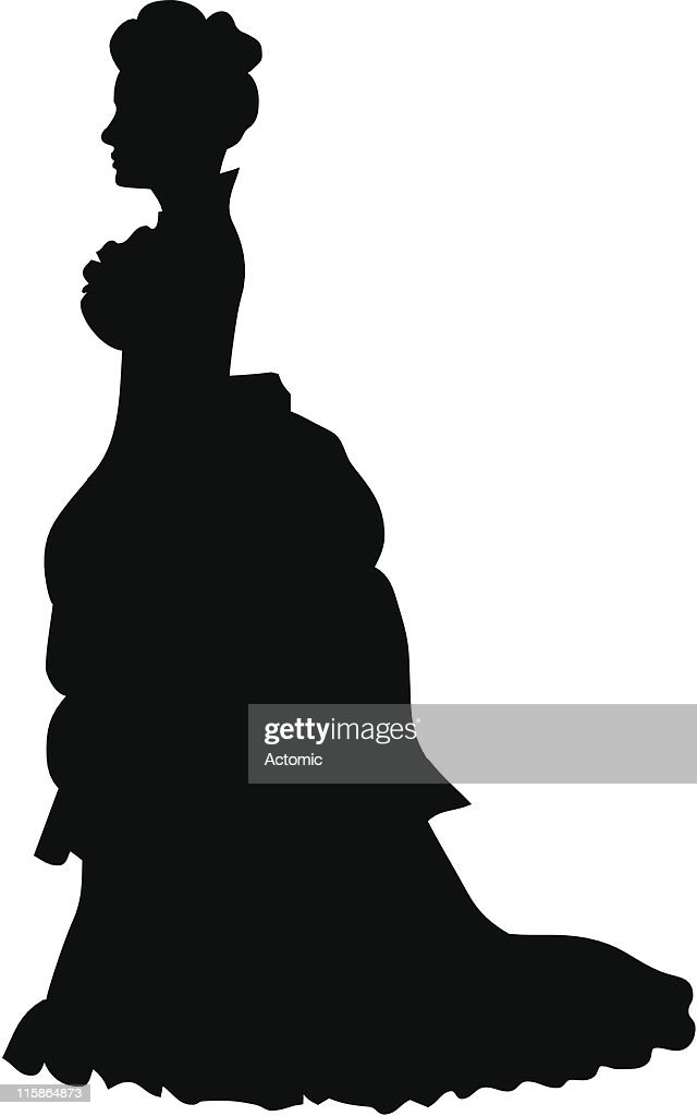 Silhouette of a victorian woman
